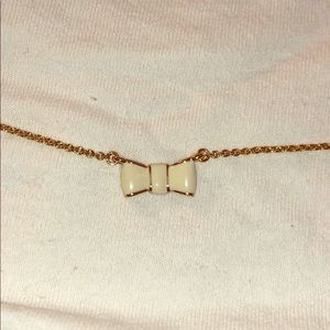 Gold Kate Spade Bow Necklace